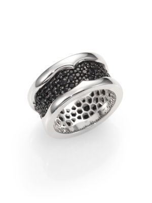 Sterling Silver and Black Sapphire Ring