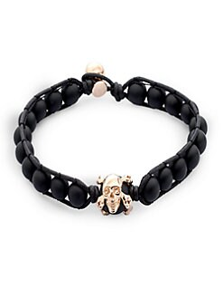Stephen Webster - Onyx & Leather Bracelet