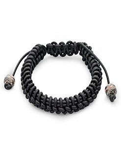 Stephen Webster - No Regrets Woven Leather Bracelet