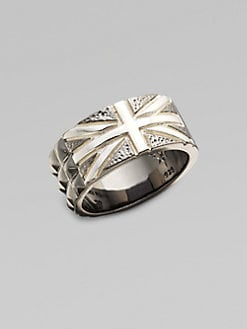 Stephen Webster - Sterling Silver & Black Onyx Union Jack Ring