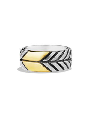 Modern Chevron Gold Band Ring