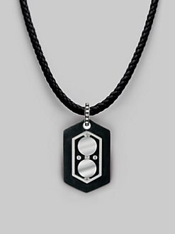 John Hardy - Silver & Leather Pendant Necklace