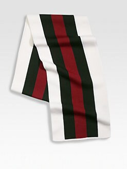 Gucci - Web-Detailed Crook Scarf