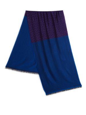 Houndstooth Wool & Silk Scarf