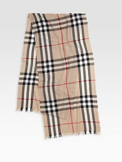 Burberry - Checked Scarf