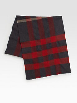 Burberry - Bright Checked Wool Scarf