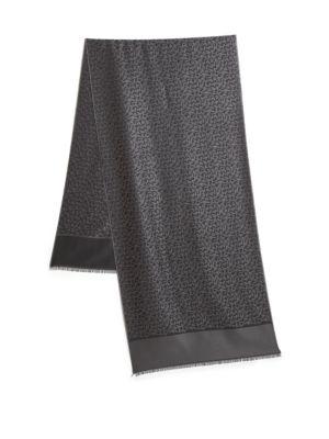 Silk & Cotton Logo Scarf