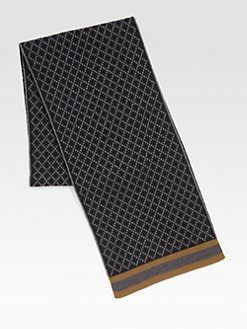 Gucci - Diamante Pattern Knit Scarf