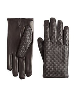 Gucci - Microguccisima Leather Gloves