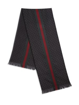 GG Jacquard Knit Scarf