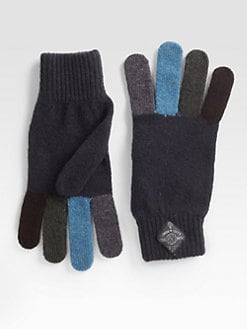 Paul Smith - Multicolored Wool Gloves