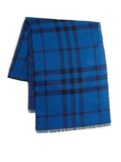 Burberry - Checked Woven Scarf