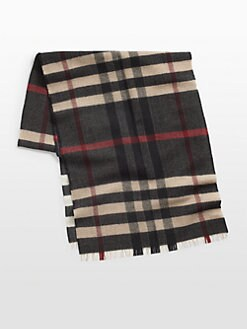 Burberry - Reversible Check Wool Scarf