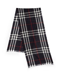 Burberry - Crinkled Check Scarf