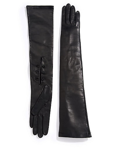 Opera Leather Gloves $223.71 AT vintagedancer.com