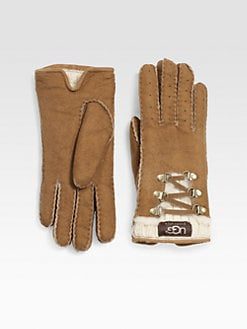 UGG Australia - Knit Trimmed Shearling Glove