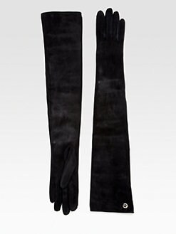 Gucci - Silk-Lined Leather Suede Gloves
