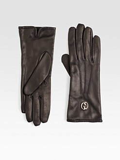Gucci - Leather Icon Gloves