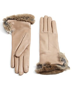 Labonia - Rabbit Fur-Cuffed Leather Gloves