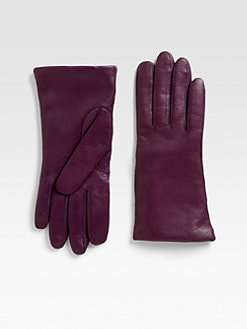 Saks Fifth Avenue Collection - Leather Touch Screen Gloves