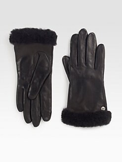 UGG Australia - Classic Leather Shearling Smart Gloves