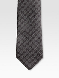 Gucci - GG Pattern Tie with Signature Web