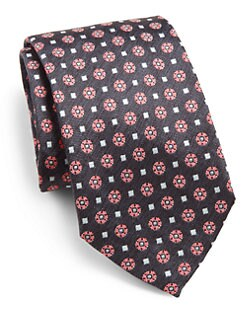 Eton of Sweden - Flower Square Silk Tie