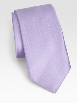 Ike Behar - Pindot Solid Silk Tie