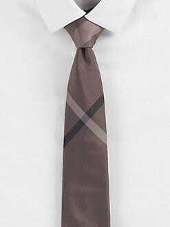 Burberry London - Check Print Silk Tie