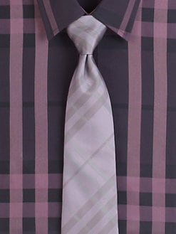 Burberry London - Tonal Check Silk Tie