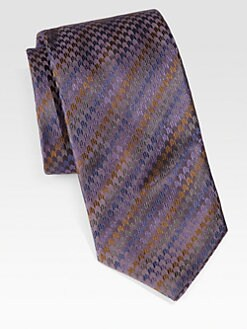 Brioni - Chevron Silk Tie