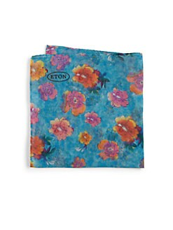 Eton of Sweden - Flower Painting Pocket Square