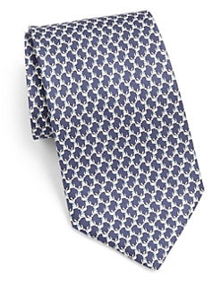 Salvatore Ferragamo - Puppy Printed Silk Tie