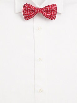 Salvatore Ferragamo - Printed Silk Bow Tie