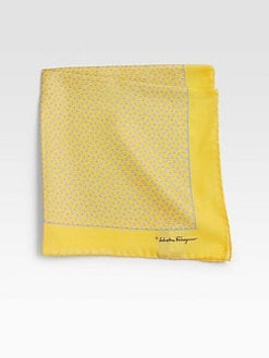 Salvatore Ferragamo - Printed Silk Pocket Square