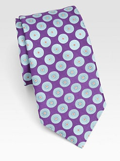 Ike Behar - Circle-Patterned Silk Tie