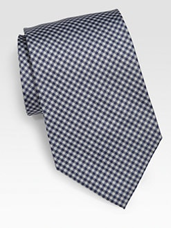 Paul Smith - Gingham Print Silk Tie