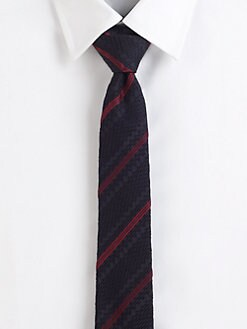 Burberry London - Textured Check Silk Tie