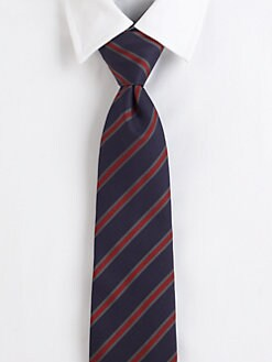 Burberry London - Repp Stripe Silk Tie