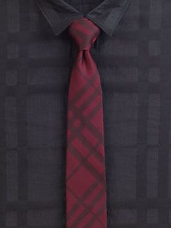 Burberry London - Dotted Check Silk Tie