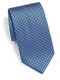 Brioni - Geometric Print Silk Tie