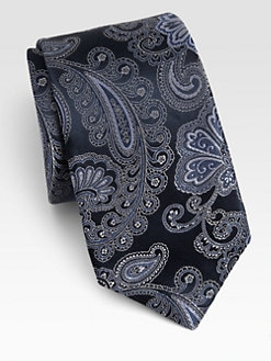 Ike Behar - Paisley Silk Tie