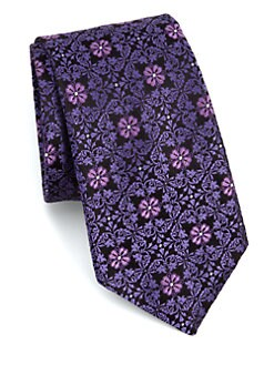 Ike Behar - Fancy Neat Silk Tie