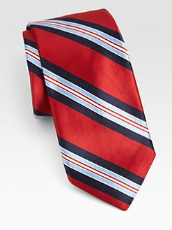 Ike Behar - Striped Silk Tie