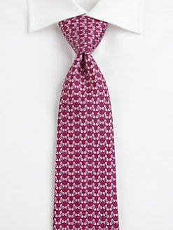 Salvatore Ferragamo - Printed Silk Tie