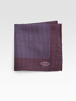Grungy Gentleman x Eton - Printed Wool Pocket Square
