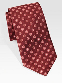 Brioni - Floral Medallion Silk Tie