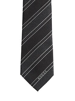 Gucci - Alise Striped Silk Tie