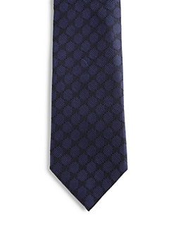 Gucci - GG Print Silk Tie