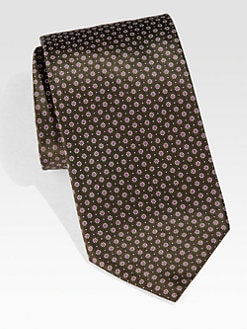 Brioni - Abstract Floral Neat Silk Tie